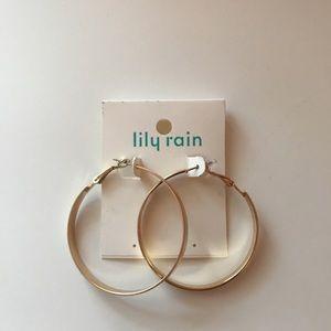 Jewelry - lily rain gold hoop earrings